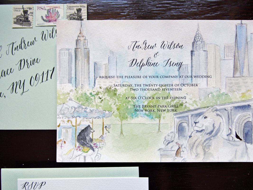 Custom New York Wedding Invitations