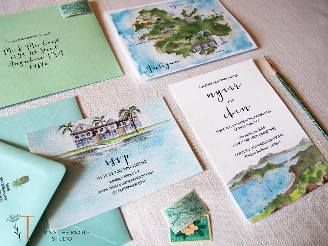 Antigua Wedding Invitations